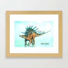 Kentrosaurus Framed Art Print