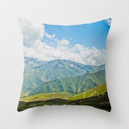 Mountains of Kashmir Throw Pillow