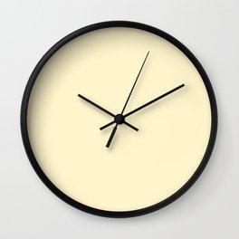 color for pattern 8 (#FFF5CC-lemon chiffon) Wall Clock