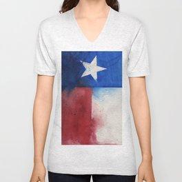 Flag of Texas Unisex V-Neck