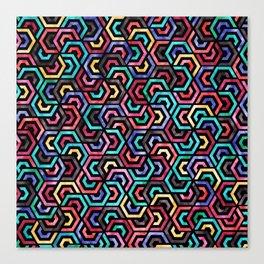 Seamless Colorful Geometric Pattern XXV Canvas Print