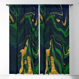 Rhapsody in Blue and Green and Gold Blackout Curtain