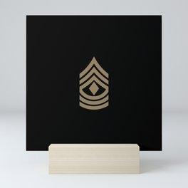 1st Sergeant (Brown) Mini Art Print