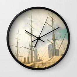 Vintage Old Ship Wall Clock