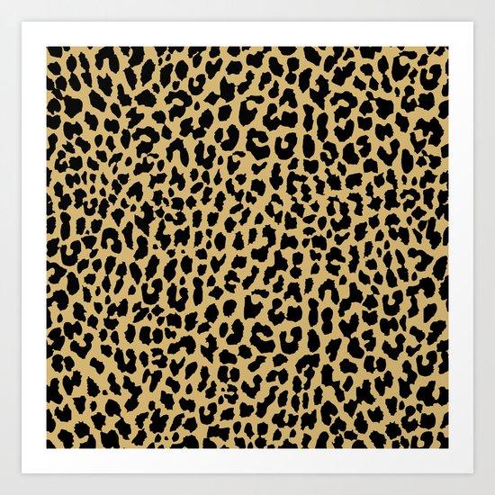 Neon Classic Leopard Art Print