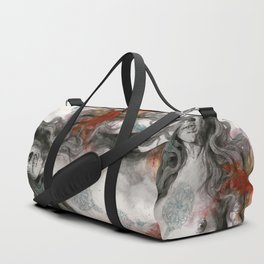 Edit Your Wounds (nude mandala girl erotic drawing) Duffle Bag