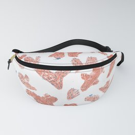 Orange cactus with white faces Fanny Pack