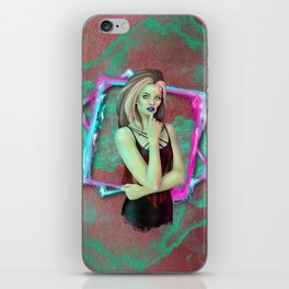 Neon Punk Zombie iPhone Skin