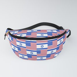 Mix of flag : usa and israel Fanny Pack