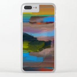 Southwestern Abstract Clear iPhone Case