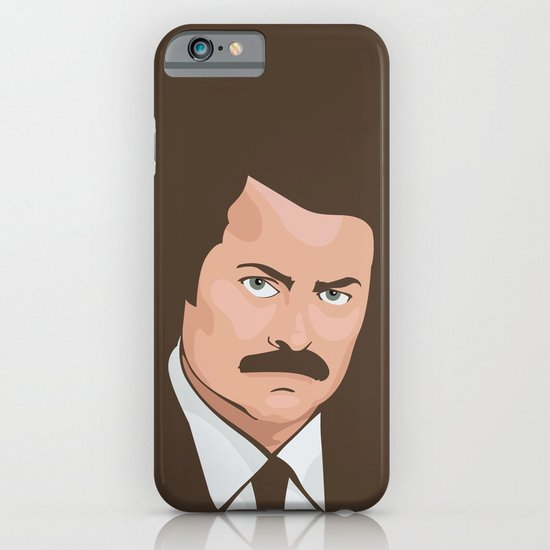 Ron Swanson iPhone & iPod Case