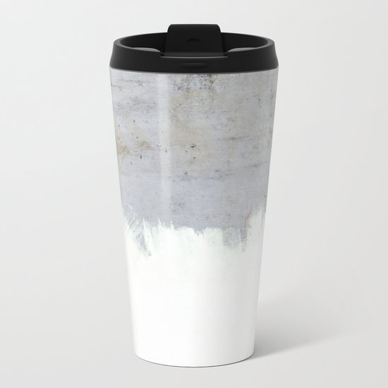 Painting on Raw Concrete Metal Travel Mug