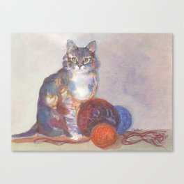 Purling Puss Canvas Print