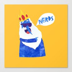 Ice King looks Crazy Seeyak! Collage Canvas Print