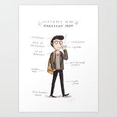 Anatomy of the Parisian (man) Art Print