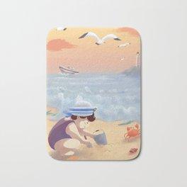 Boy On The Beach Bath Mat