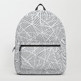 Abstract Lace on Grey Backpack