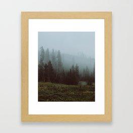 YNP fog 3 Framed Art Print