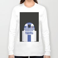 r2d2 Long Sleeve T-shirts featuring R2D2 by FioMedina