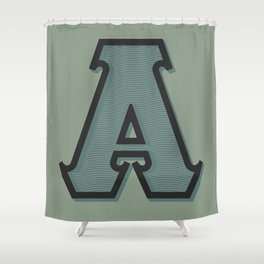 BOLD 'A' DROPCAP Shower Curtain