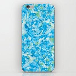 Blue Rose Garden iPhone Skin