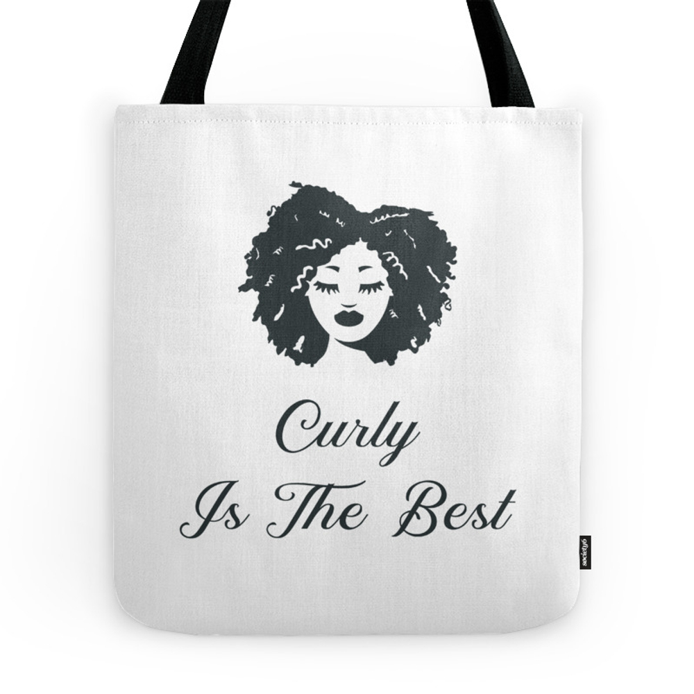 Curly Is The Best T-Shirt Tote Purse by eatosixo (TBG9542609) photo