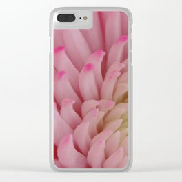 Flower White Pink Close Up Clear iPhone Case