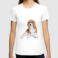 beagle T-shirts featuring Beagle by hadkhanong