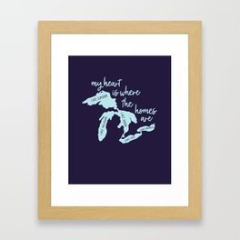 My Heart is Where the Homes Are Great Lakes Framed Art Print