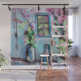 Anapa. Seaside town in bloom. Hot summer day. Pastel drawing Wall Mural