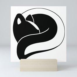 Sleeping Skunk Mini Art Print