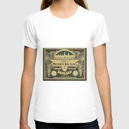Vintage 1950 Rigas Melnais Balzams Wine Bottle Green Label T-shirt