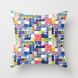 Geometric Playground Throw Pillow
