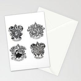 Hogwart House Crests Stationery Cards