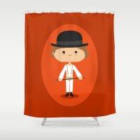 kubrick Shower Curtains featuring Ultra-Cuteness by Sombras Blancas Art & Design