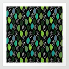 Modern Abstract Leaf Pattern Art Print