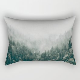 Foggy Forest 3 Rectangular Pillow