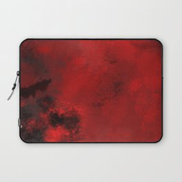 Red and Black Abstract Laptop Sleeve