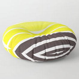 Yellow Minimalist Watercolor Mid Century Staggered Stripes Rothko Color Block Geometric Art Floor Pillow