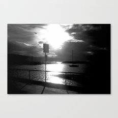 On the dock of the Bay! Canvas Print