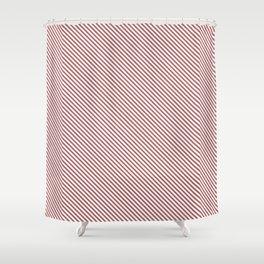 Dusty Cedar Stripe Shower Curtain