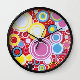Pop Art Colour Circles Wall Clock