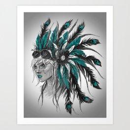 Steampunk Chief Art Print