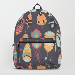Tribal feather pattern 009 Backpack