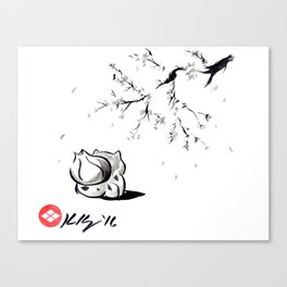 Spring, Japanese Sumi-e Style Video Game Art Canvas Print