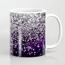Dark Night Purple Black Silver Glitter #1 #shiny #decor #art #society6 Coffee Mug