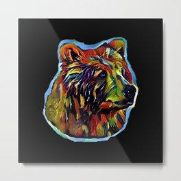 Kaleidoscope Bear  Metal Print