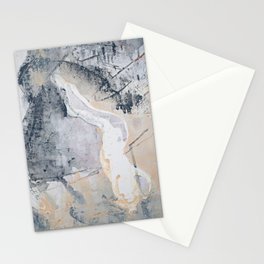 As Restless as the Sea: a minimal abstract painting by Alyssa Hamilton Art Stationery Cards