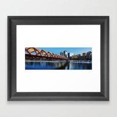 Peace Bridge Calgary Framed Art Print