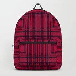 Red black plaid 3 Backpack